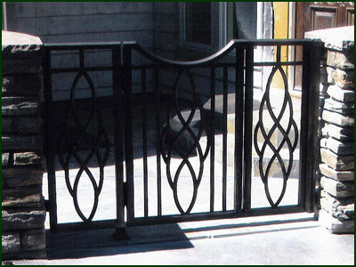 Wrought Iron Courtyard Gate - Oakland